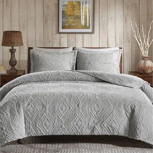 3-Pc. Reversible Faux-Fur Full/Queen Coverlet Set